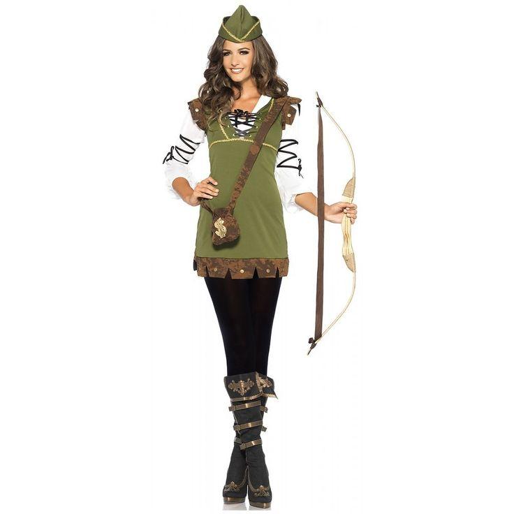 Robin Hood Costume Adult Halloween Fancy Dress   eBay