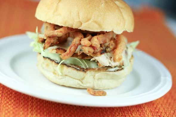 Guy Fieri's Red Rocker Margarita Chicken via The Little Kitchen. I made this sandwich last night and it was as good as you get at any Restaurant...if not better.    http://www.thelittlekitchen.net/2011/06/01/guy-fieris-red-rocker-margarita-chicken/