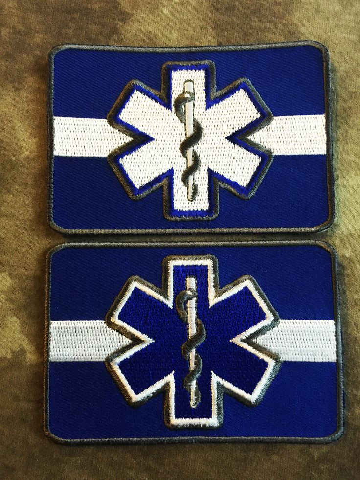 Thin White Line Star Of Life Emt Ems Patches Thin Line