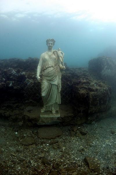 Baia underwater Pompeii Naples, province of Naples, Campania region Italy