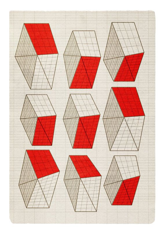 """Geometric Neighborhood"" original print."