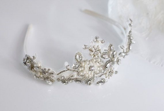 Corona nuziale di testa | Matrimonio copricapo, di perline stile-Ada