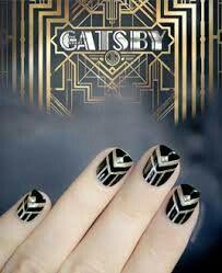 nail art 1920s