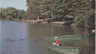 Verona Lake Verona Essex County New Jersey Vintage Postcard Youg Fisherman 068