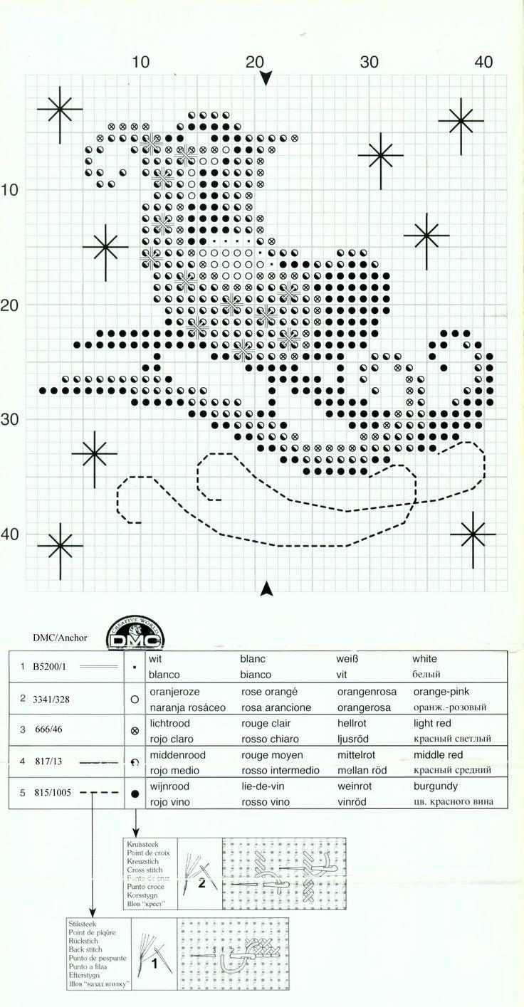 Cross-stitch Christmas Sachet Sets, part 8...    Santa's Sleigh Sachet, Chart, Page 2/2c, PN-0145605: