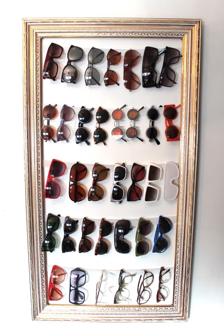 219 best diy projects ing soon images on pinterest easy diy framed sunglasses holder for closet using thick elastic to hold the sunglasses solutioingenieria Image collections