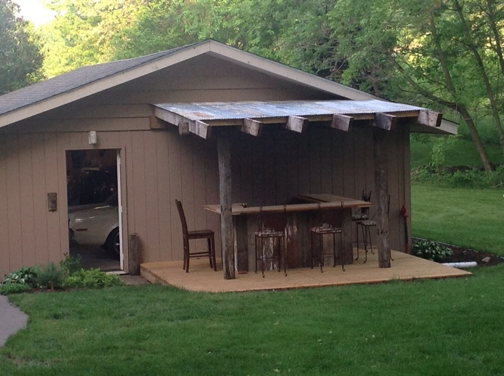 Our new Rustic Outdoor Bar!