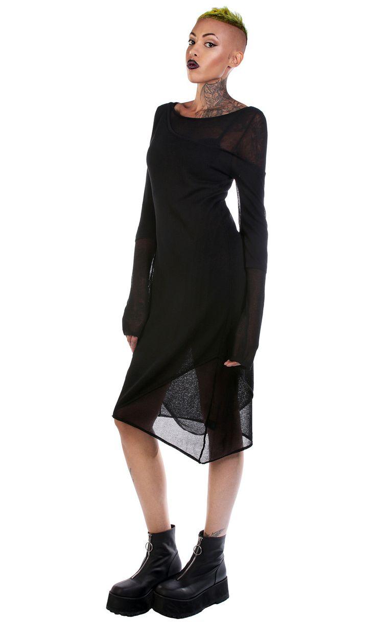Blackest ever black berghain dress