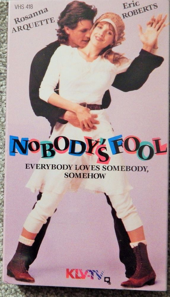 NOBODY'S FOOL (1986 ROMANCE) VHS ROSANNA ARQUETTE, ERIC ROBERTS, MARE WINNINGHAM