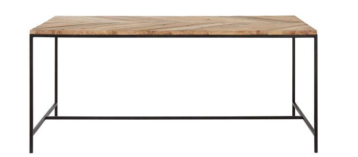 Table de salle à manger en pin recyclé L 178 cm Chevron