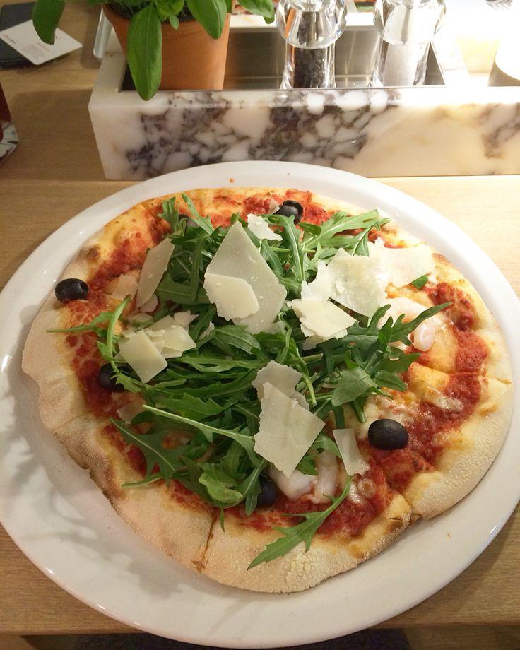 Rucola - Scampi Pizza von Vapiano