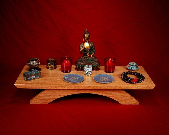Solid Oak Table Top Puja table  Meditation by theyankeewoodsmith, $76.95