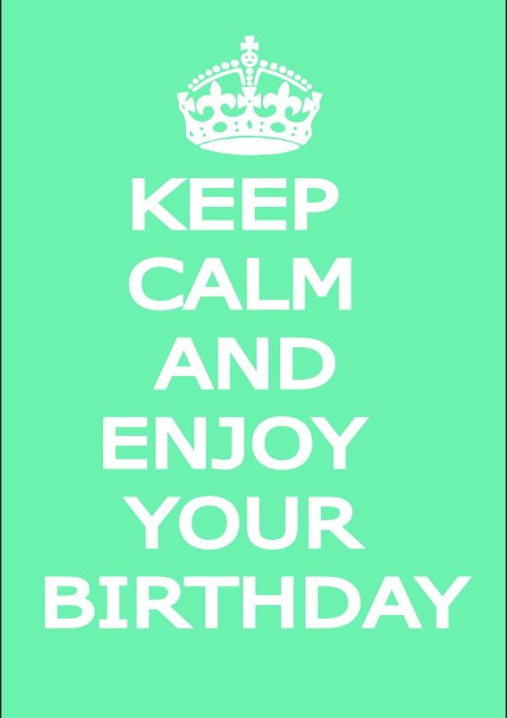 Male keep calm birthday