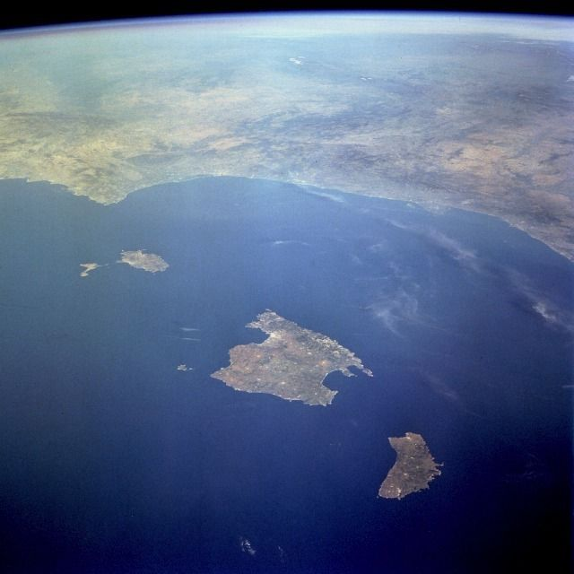 Ibiza and Formentera, on the left. One of the 'photos of the Belearics that we love the most!