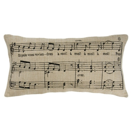 Music Note Pillow.