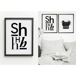 Cool Scandinavian style typographic print available from our online store