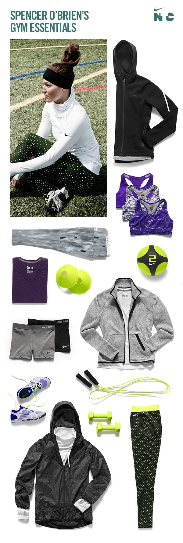 #Snowboarder Spencer O'Brien's #training favorites. #nike #train #teamnike