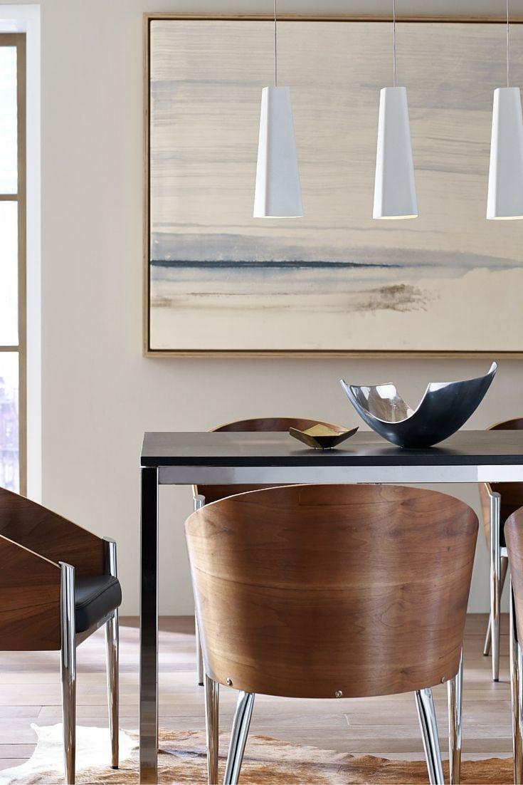 Dining room pendant lighting ideas - The Modern Asymmetric Stamped Metal Shade Of The Rhonan Pendant Light From Tech Lighting Dining Room Designlighting Ideaspendant