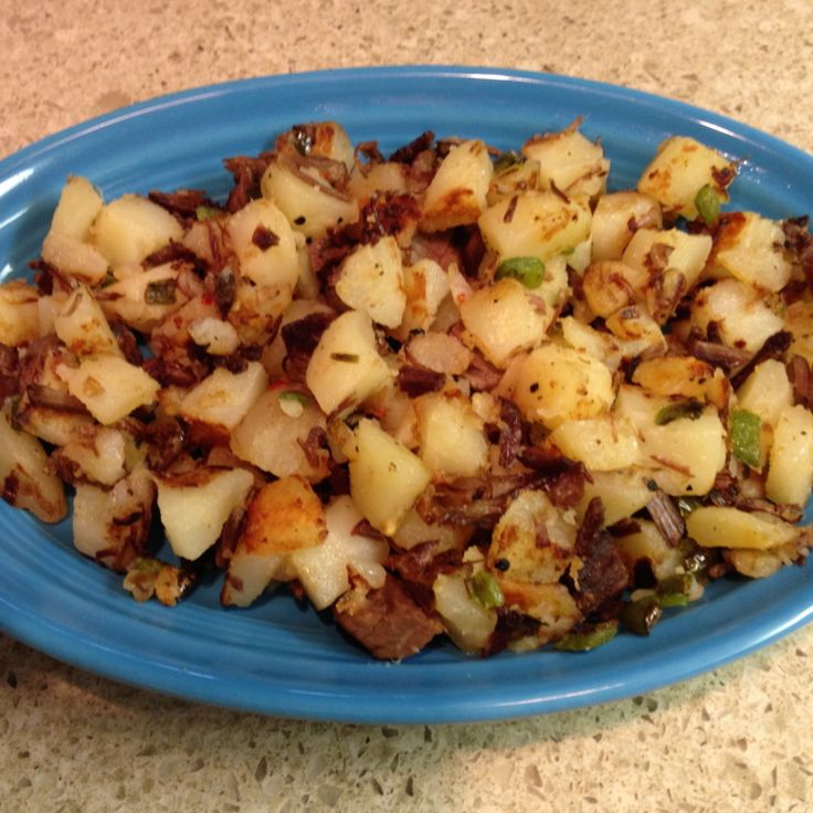 My Dad's Roast Beef Hash Recipe | Just A Pinch Recipes