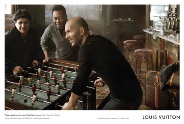 Maradona, Pelé and Zidane  Louis Vuitton