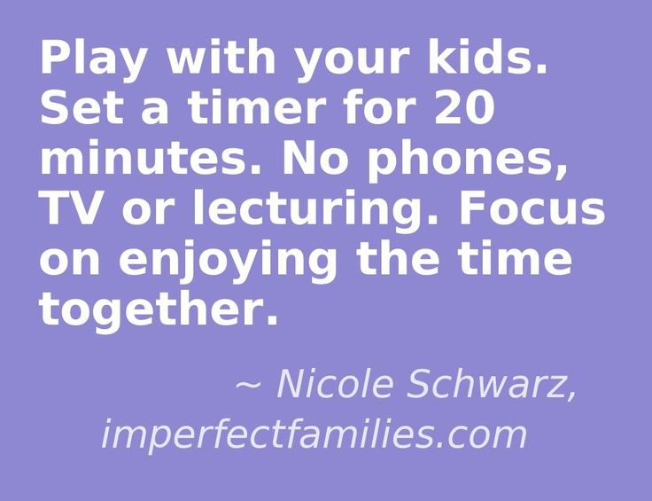 Positive parenting tip! Spending quality time with your kids is important. Setting a timer keeps you accountable and sets a boundary for your children.
