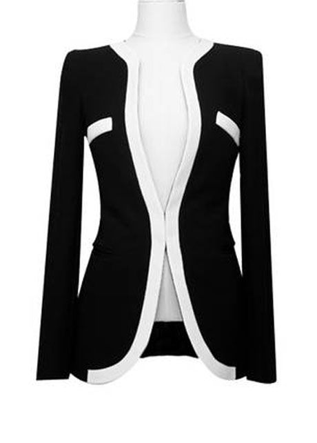 Exquisite Black Single Breasted Long Sleeve Woman Blazer | Rosewe.com