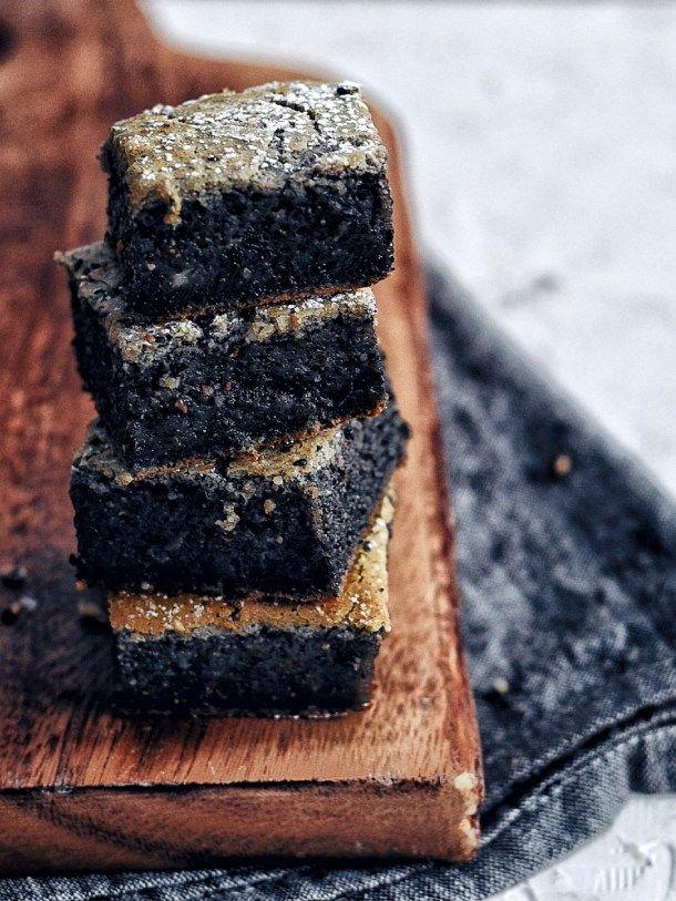 black sesame mochi cake the subversive table recipe in 2020 mochi cake black sesame dessert black sesame black sesame mochi cake
