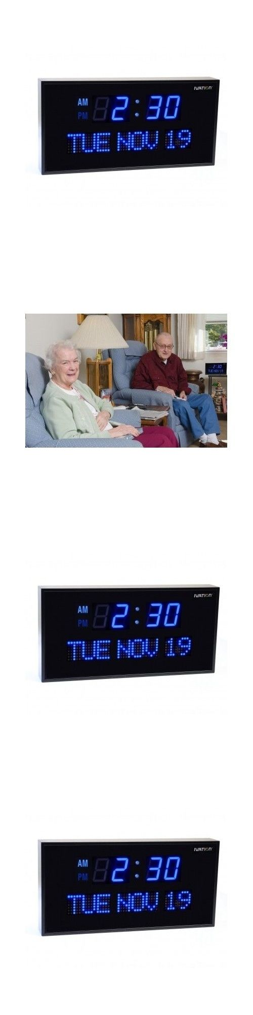 Wall Clocks 20561: Large Lighted Clock 16 Digital Blue Oversized Led Wall Bright Display Seniors -> BUY IT NOW ONLY: $92.77 on eBay!