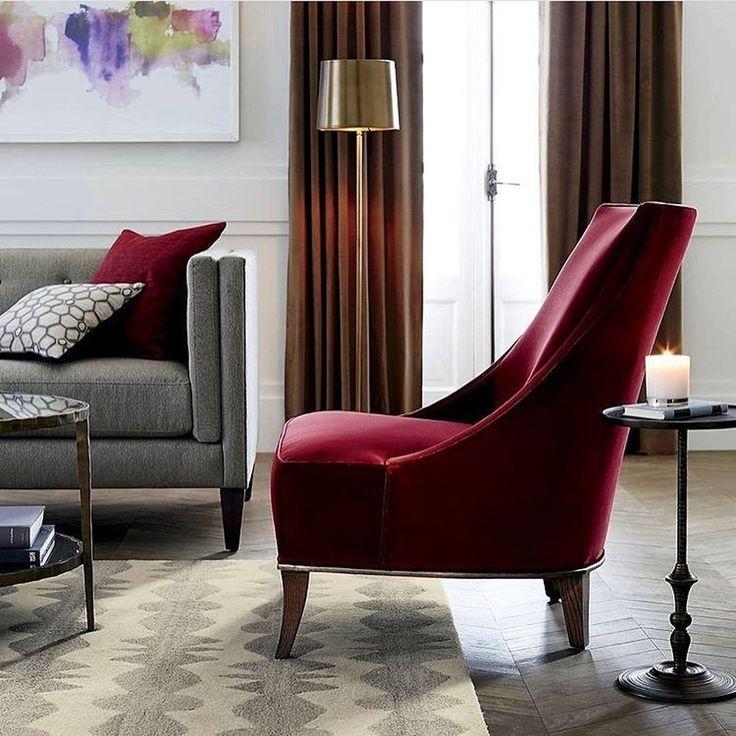 Осенью #бархат всегда входит в моду! Уютных выходных  @elledecorationru #galleria_arben #cherrycolor #interior #idea #velvet #ткани #fabric