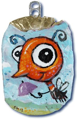 index bug1 test Crushed Can Art in packagings art with Upcycled Recycled paint crushed Can Art