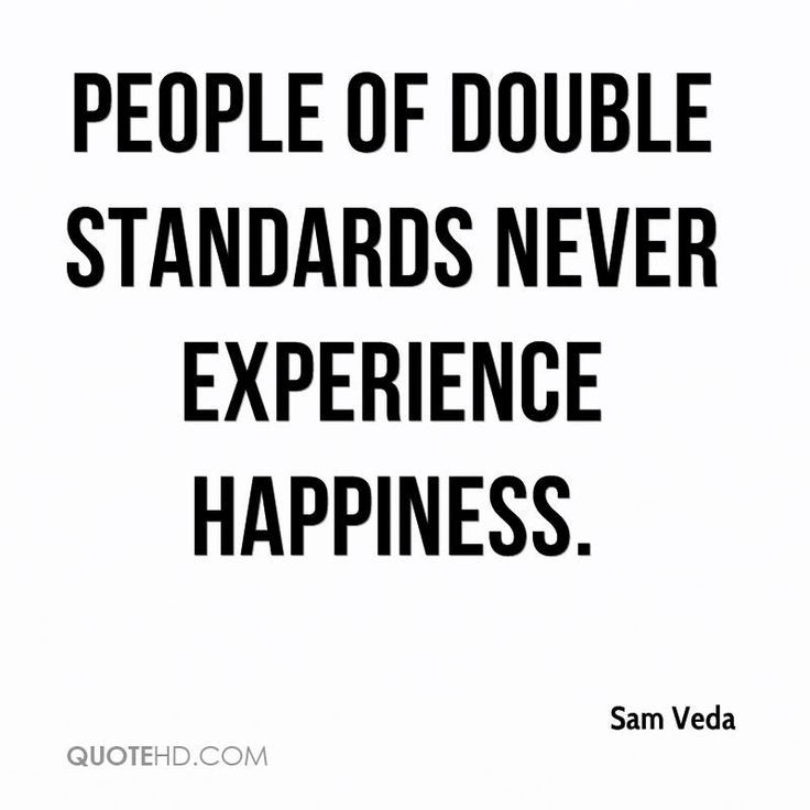 Double Standard Quotes. QuotesGram