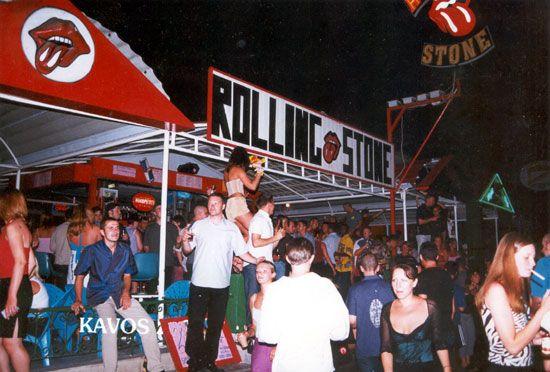 The Rolling stone club in Kavos, Corfu Greece