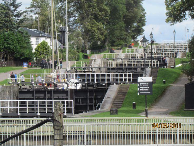 Neptune Staircase Locks near Fort William