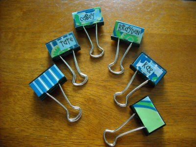 Decorated binder clips - it's the little things. - Mod Podge Rocks