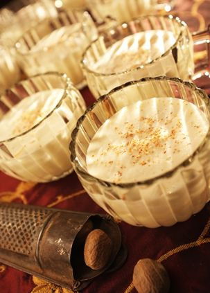 Alton Brown's Eggnog Recipe: This recipe has a lot of booze in it, but the longer the nog ages, the more mellow it will get.