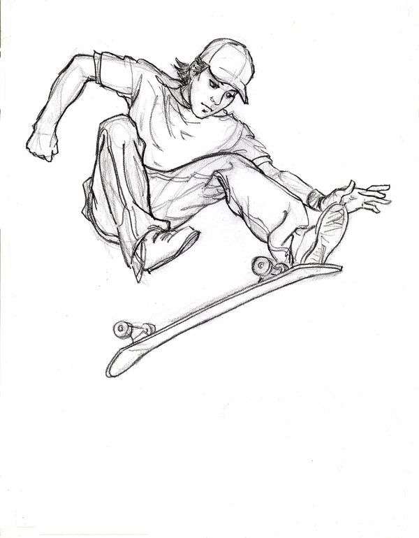 Drawing Boy And Skateboard Google Search Skateboard Tattoo Drawings Cartoon People