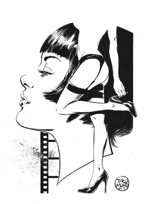 drumondart:  Valentina Rosseli di Guido CrepaxPencils and Inks...
