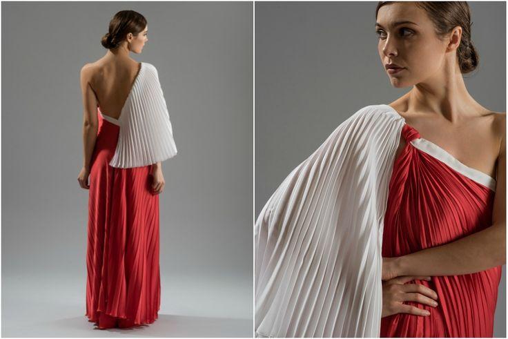 #teticharitou #eveninggowns #bridalgowns #pleated #maxi #reddress