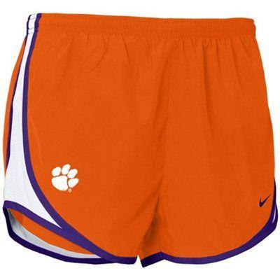 Nike Clemson Tigers Orange Ladies Tempo Shorts