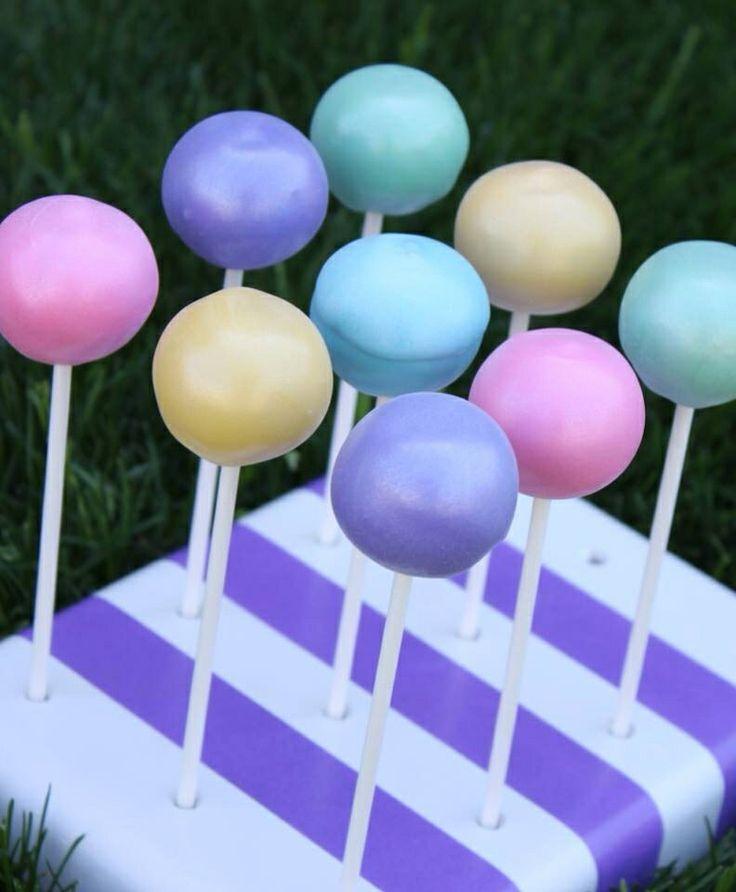 Tye Dye Cake Pops