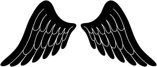 Black Silhouette Angel Wings Free Clip Art Wings