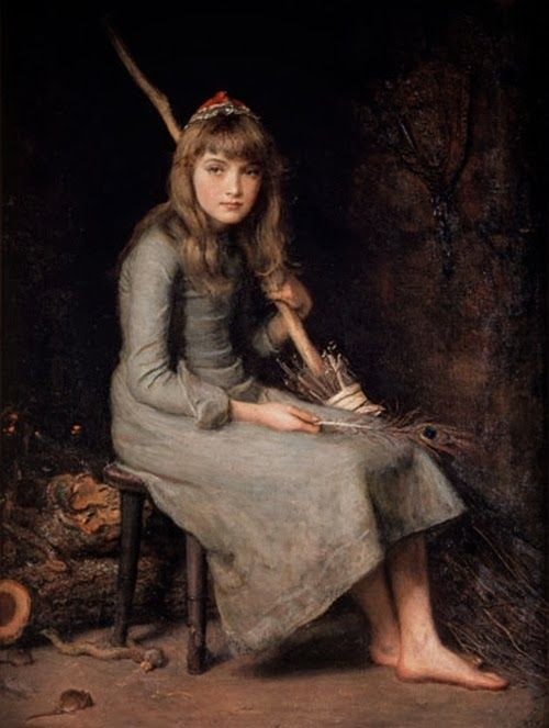 Pre Raphaelite Art: Cinderella (1870s), John Everett Millais