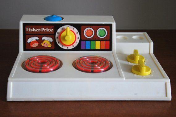 Stove #fisher_price #vintage - nu spelen mijn kids hier mee!