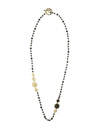 Black and Gold Shimmy Necklace