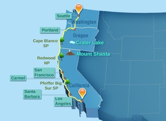 Distance From Portland To Seattle >> Valuable Tips for Planning a Drive from Seattle to Los Angeles | Utah, Distance and The o'jays
