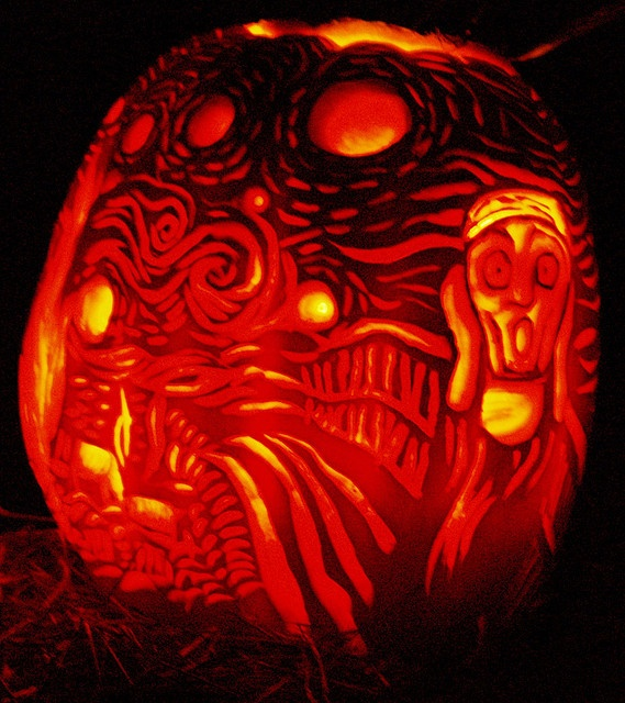 169 best pumpkin art images on pinterest pumpkin art for Scream pumpkin template