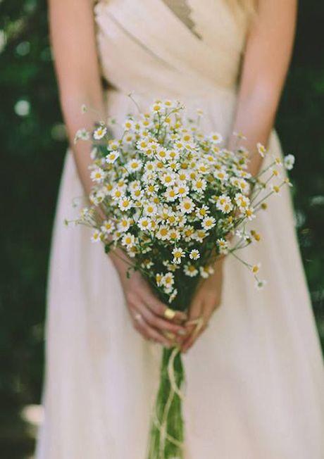An all-chamomile bridal bouquet   Brides.com