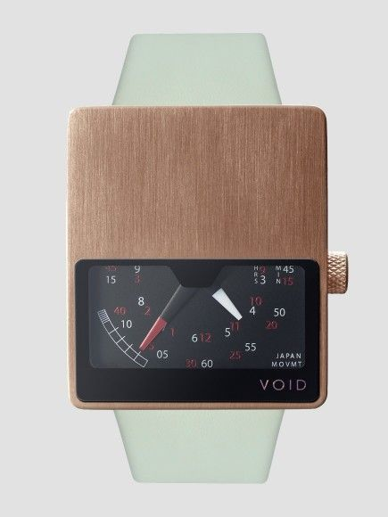 VOID WATCH - features a novel interpretation of the classic speedometer-style dial showing only half of the traditional circular face.