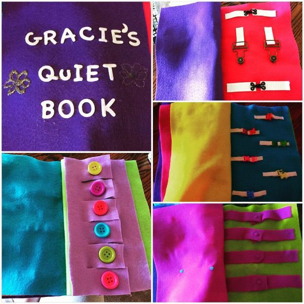 easy toddler quiet book for the crafty-impaired