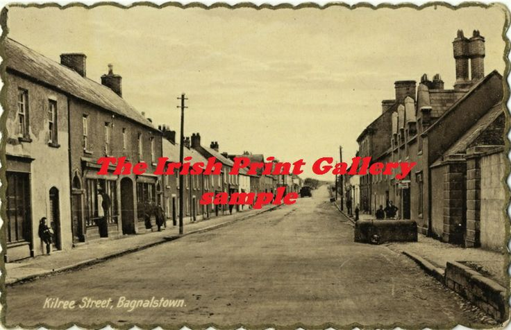 Co Carlow - a view of Kilree Street, Bagenalstown c 1940